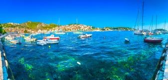 Adriatische Küste in Hvar, Mittelmeer Stockfotografie