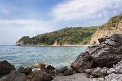 Adriatische Küste im Budva Stockfotos