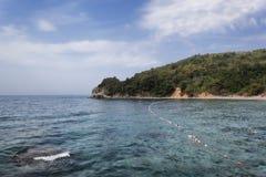Adriatische Küste im Budva Stockbild
