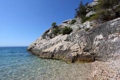 Adriatische Küste in Kroatien Lizenzfreies Stockbild