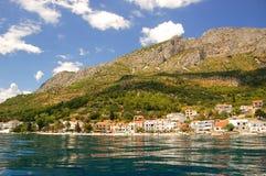Adriatische Küste in Kroatien Stockbild
