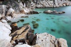 Adriatische Küste in Kroatien Stockbilder