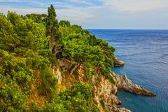 Adriatische Küste Kroatiens, Meer Dubrovnik-Meerblicks Lizenzfreies Stockbild