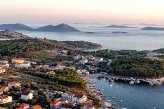 Adriatische Küste Stockbild