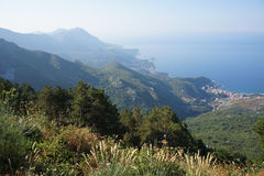 Adriatische Küste in Montenegro. Lizenzfreie Stockfotografie