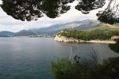 Adriatische Küste Montenegro Lizenzfreies Stockfoto