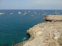 Adriatische Küste Polignano eine Stute Stockfotos