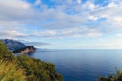 Adriatische Küste von Budva Riviera Lizenzfreies Stockfoto