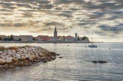 Adriatische Küste von Kroatien, Porec-Stadtbild Stockfotos
