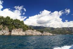 Adriatische Küste von Montenegro Lizenzfreie Stockfotos