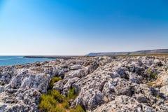 Adriatische Küste von Salento Lizenzfreies Stockfoto