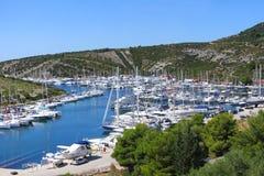 Adriatische Küstelandschaft Lizenzfreies Stockfoto