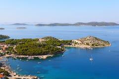 Adriatische Küstelandschaft Stockbild