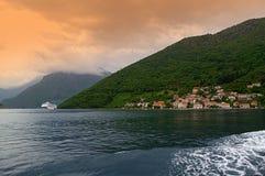 Adriatische Küstenansicht Montenegros Stockfotos