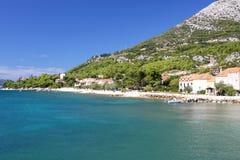Adriatische Küstenlinie Lizenzfreies Stockfoto