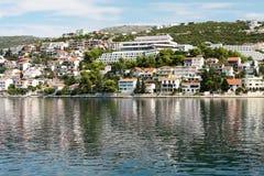 Adriatische Küstenlinie Stockfotografie