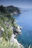 Adriatische Küstenlinie Lizenzfreies Stockbild