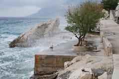 Adriatische Küstenlinie, Kroatien Lizenzfreie Stockfotografie