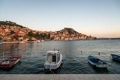 Adriatische Küstenlinie in Kroatien Lizenzfreies Stockfoto