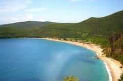 Adriatische Küstenlinienansicht, Montenegro Stockbilder