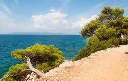 Adriatische Küstenlinienlandschaft Stockbild