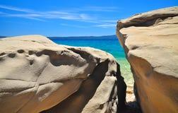 Adriatische Küstenseeszene Lizenzfreie Stockfotos