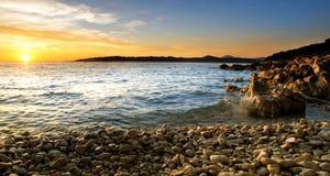 Adriatische Kiesel Lizenzfreies Stockfoto
