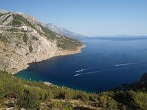 Adriatische kust Stock Foto's