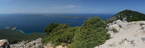 Adriatische kustlijn Stock Foto