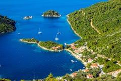 Adriatische Landschaft Lizenzfreie Stockfotos