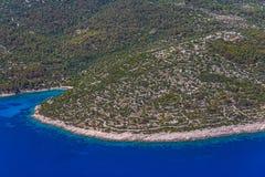 Adriatische Landschaft - Insel Losinj Lizenzfreies Stockfoto
