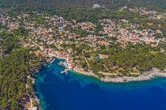 Adriatische Landschaft - Insel Losinj Stockfoto