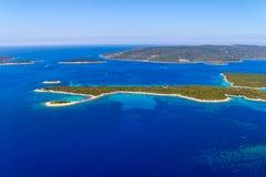 Adriatische Landschaft - Kroatien Stockbild