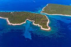 Adriatische Landschaft - Kroatien Stockfotos