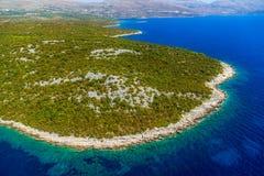 Adriatische Landschaft, Kroatien Stockfotos