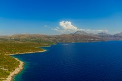 Adriatische Landschaft, Kroatien Lizenzfreies Stockbild