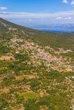 Adriatische Landschaft an Peljesac-Halbinsel Stockfoto