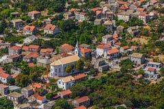 Adriatische Landschaft an Peljesac-Halbinsel Stockfotos