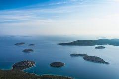 Adriatische Landschaftsantenne Stockbilder