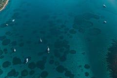 Adriatische Landschaftsantenne Lizenzfreies Stockfoto