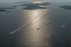 Adriatische Landschaftsantenne Lizenzfreie Stockfotografie