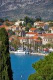 Adriatische Mittelmeerküstenlinie Lizenzfreies Stockbild
