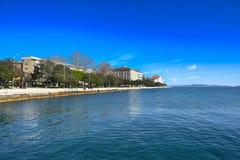 Adriatische Mittelmeerküstenlinie Stockfotografie