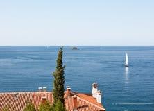 Adriatische overzees. Stock Afbeelding
