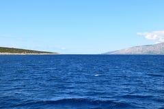 Adriatische overzees in de zomer Stock Afbeeldingen