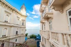 Adriatische overzees, Opatije, Kroatië Royalty-vrije Stock Foto's