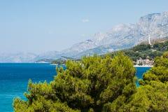 Adriatische overzees in Podgora, Kroatië Royalty-vrije Stock Fotografie