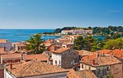 Adriatische overzeese kust Stock Afbeeldingen
