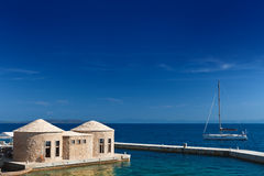 Adriatische overzeese kust van Kroatië. Toneel mening Stock Fotografie