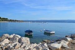 Adriatische overzeese mening van de zeilboten Royalty-vrije Stock Fotografie